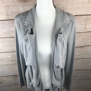 CAbi Gray Long Sleeve Cardigan